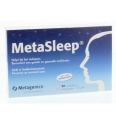 METAGENICS METASLEEP 30 TABLETTEN MET MELATONINE