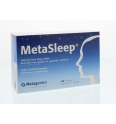 LET OP DATUM METAGENICS METASLEEP 60 TABLETTEN MET MELATONINE (vs)